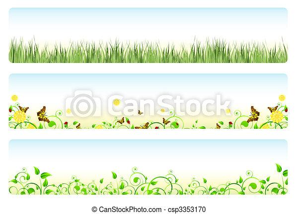 primavera, bandiere - csp3353170