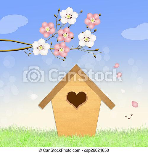 Birdhouse en primavera - csp26024650
