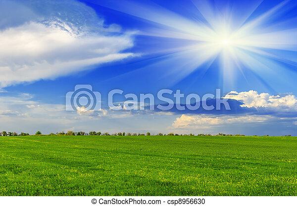 primavera, dia ensolarado - csp8956630