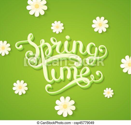 primavera, flowers., concetto, tempo - csp45779049