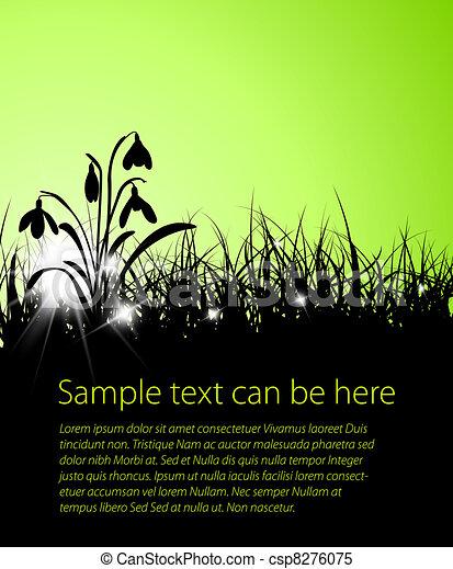 primavera, fondo, erba, vettore - csp8276075
