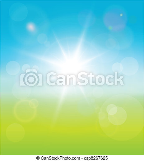 primavera, fondo - csp8267625