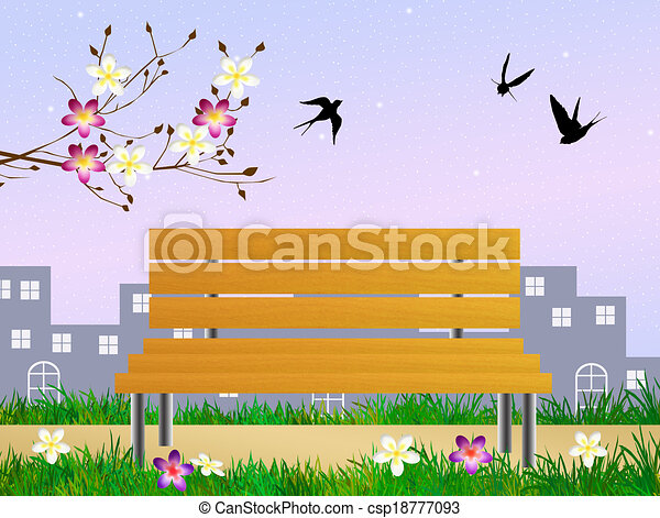 primavera, golondrinas - csp18777093
