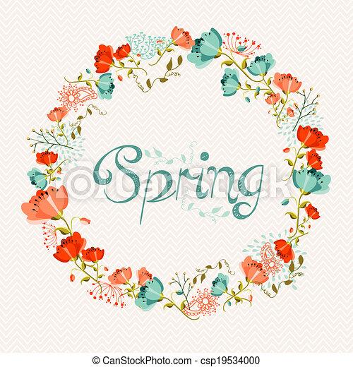 Composición de flores de primavera - csp19534000