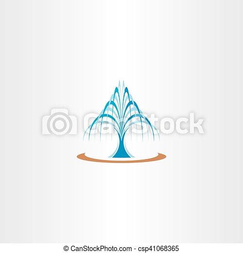 Ilustración de vectores de vector de la fuente de agua primavera - csp41068365