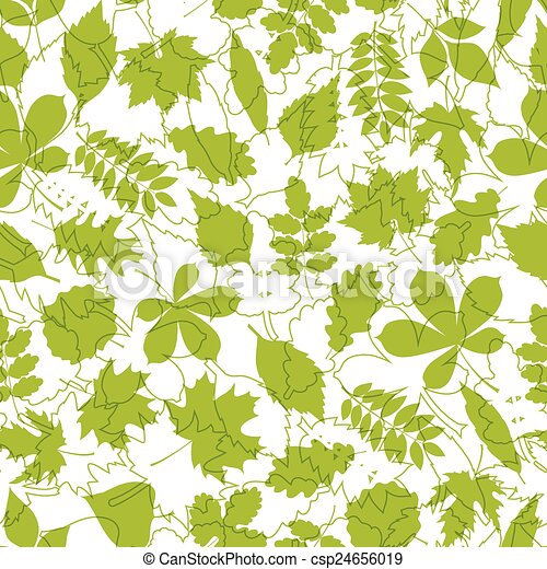primavera, modello, leaves., seamless - csp24656019