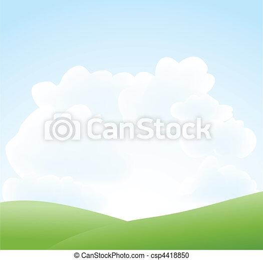 primavera, nuvem céu, paisagem - csp4418850