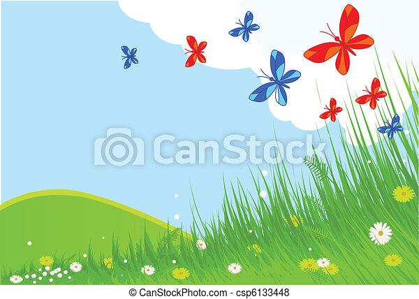 primavera, paesaggio - csp6133448