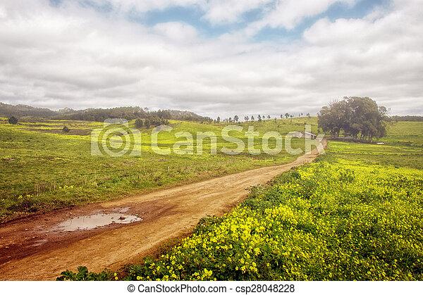 primavera, paisaje - csp28048228