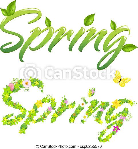 primavera, palavras - csp6255576