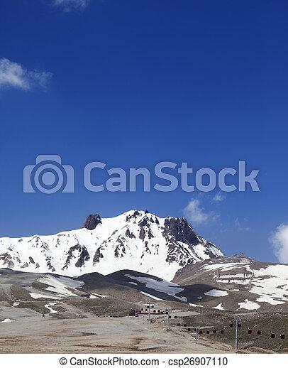 primavera, refúgio esqui - csp26907110