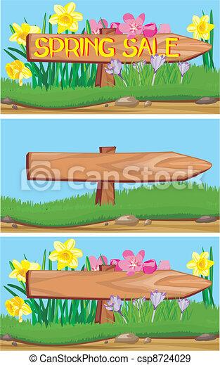 Venta de primavera - csp8724029