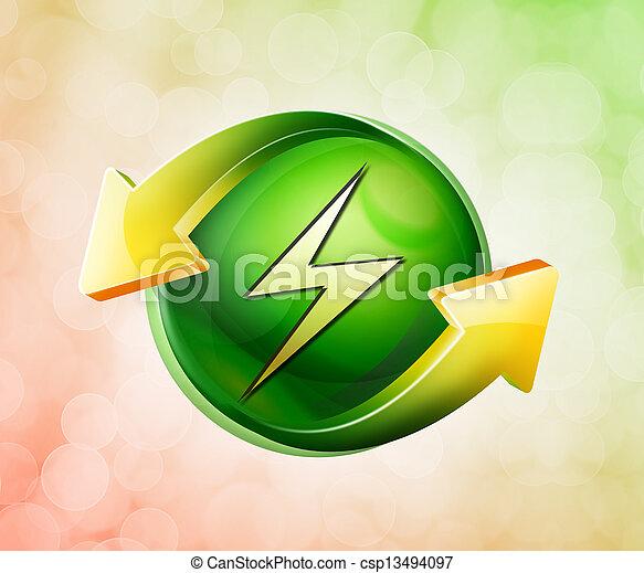 En nombre del icono verde primaveral - csp13494097
