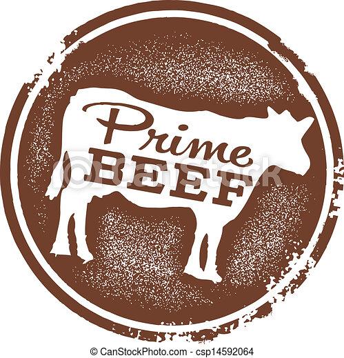 Prime Beef Butcher Shop Stamp - csp14592064