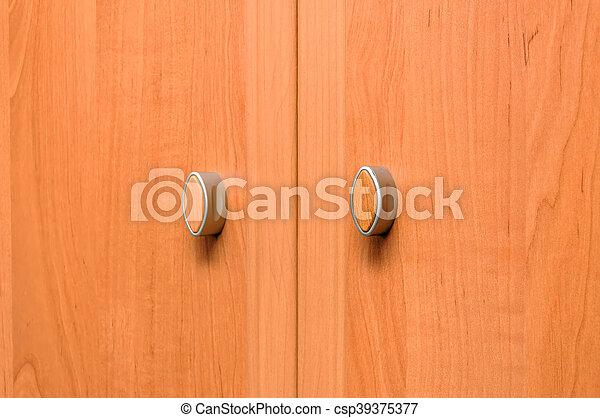 Primer plano, alacena, puerta, gabinete, madera, cocina.... imagen ...