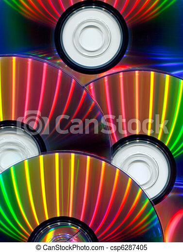 Primer plano de CDs - csp6287405
