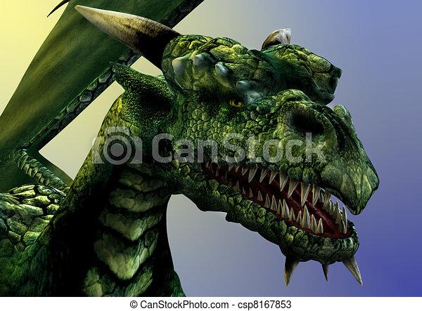 Primer plano del dragón - csp8167853