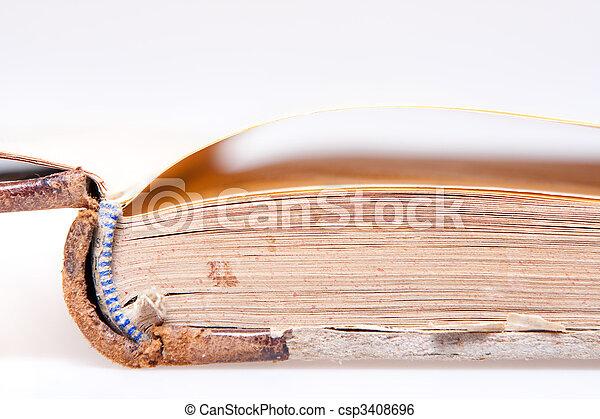 El primer plano de las páginas de libros - csp3408696
