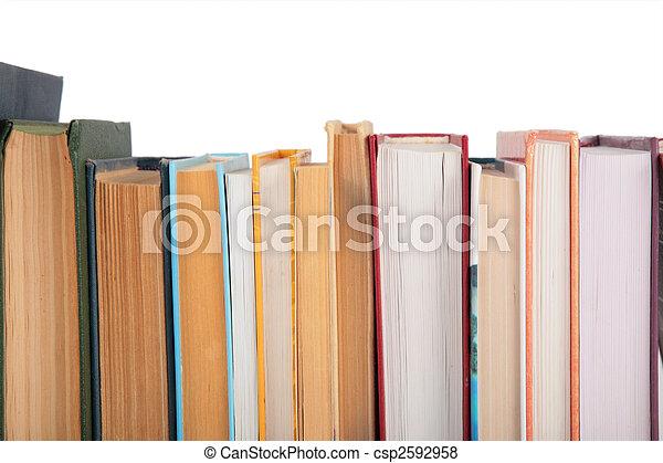 primer plano, libros - csp2592958