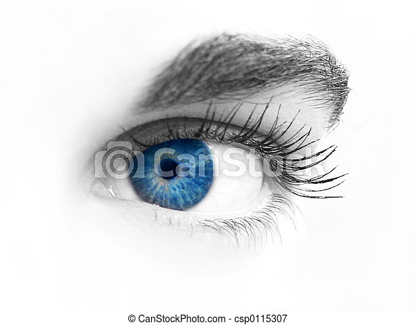Un primer plano de un ojo - csp0115307