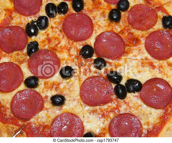 primer plano, pizza - csp1793747
