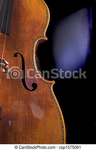 Armario de un violonchelo - csp1575061