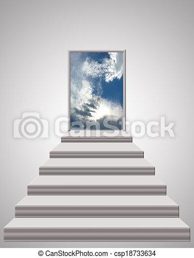 Las escaleras que llevan al cielo - csp18733634