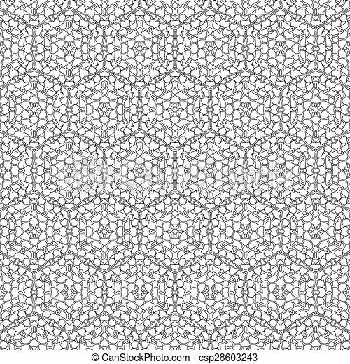primitív, egyszerű, motívum, megvonalaz, seamless, retro - csp28603243