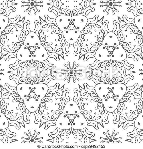 primitív, egyszerű, motívum, seamless, retro, csillaggal díszít - csp29492453