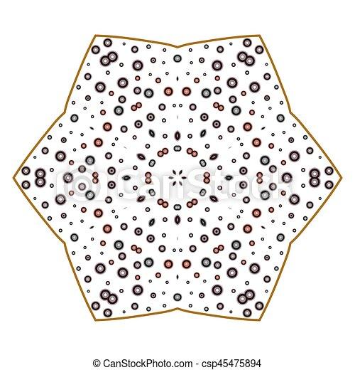 primitív, motívum, megvonalaz, circles., retro, geometriai, sacra - csp45475894