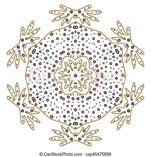 primitív, motívum, megvonalaz, circles., retro, geometriai, sacra - csp45475899