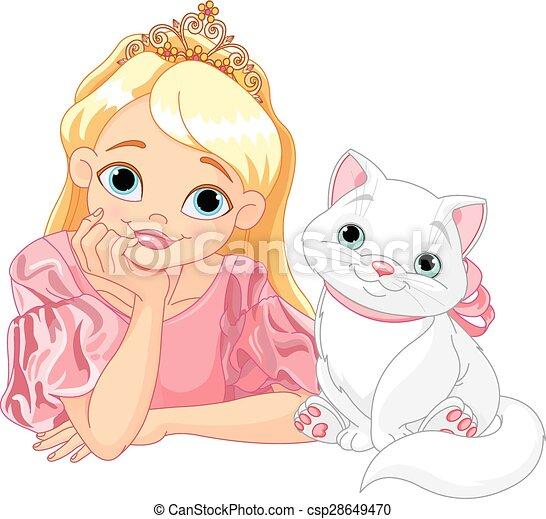Princesa y gato - csp28649470