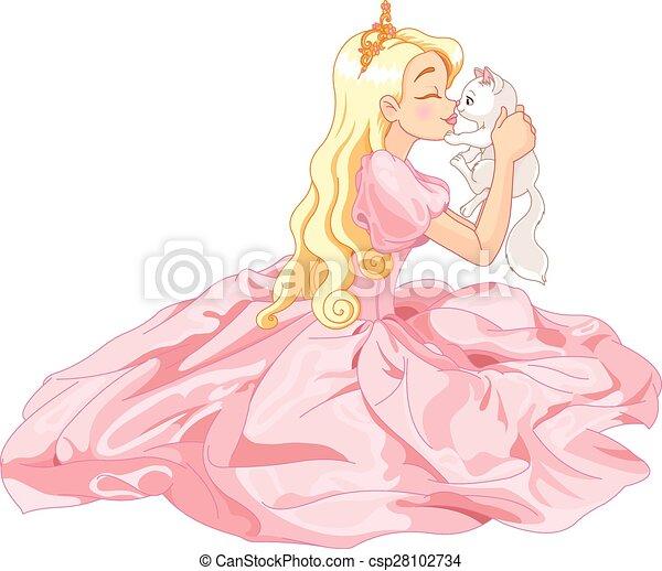Princesa y gato - csp28102734
