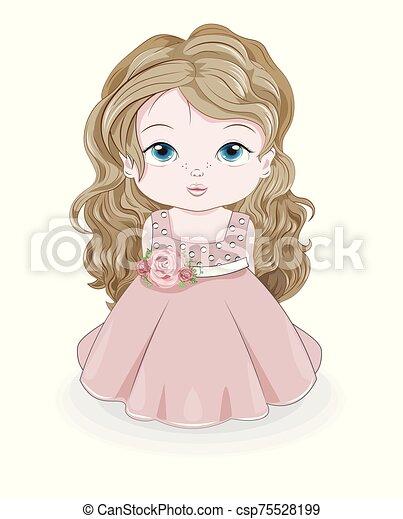 princess baby girl - csp75528199