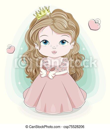 princess baby girl - csp75528206