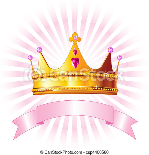 Princess crown card - csp4400560