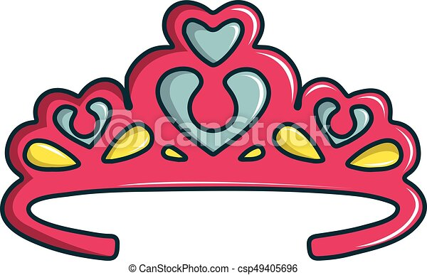 princess crown icon cartoon style princess crown icon eps rh canstockphoto com princess crown clipart black and white princess crown clipart gold