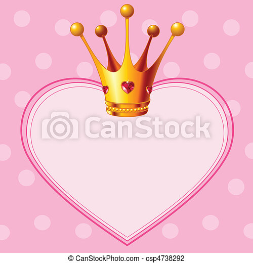 Princess Crown on pink background - csp4738292