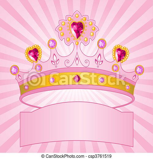 Princess Crown on radial  backgrou - csp3761519