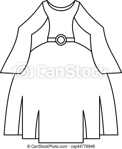 princess dress outline