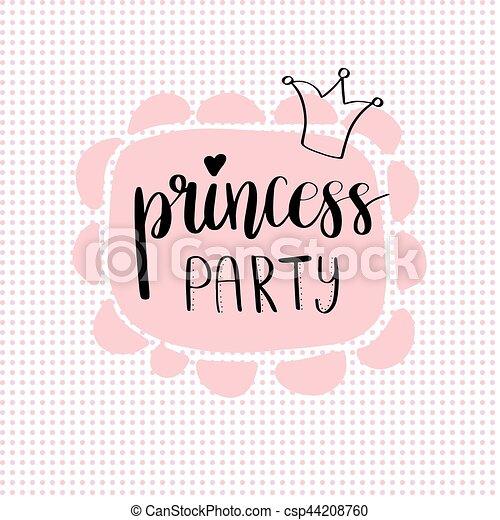 princess party bridal shower card design csp44208760