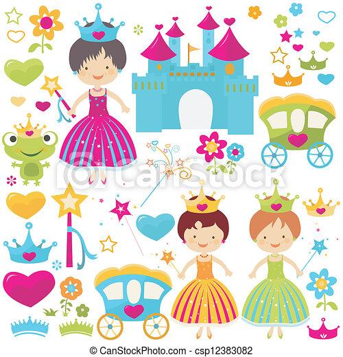 princess set - csp12383082