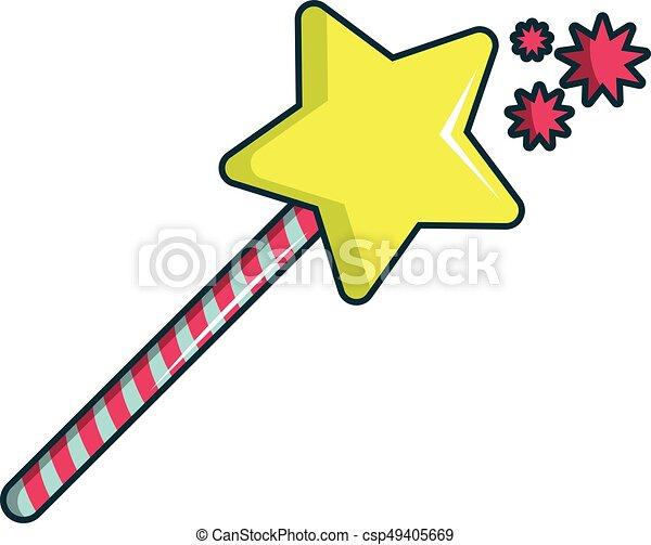 princess wand icon cartoon style princess wand icon clip art rh canstockphoto com wand clipart free wand clipart free