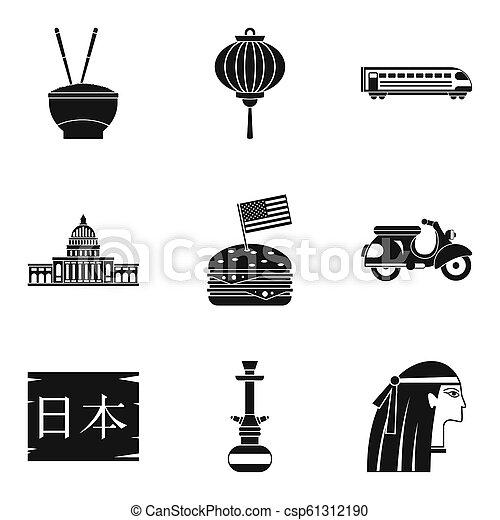 principal, ícones, jogo, estilo, religião, simples - csp61312190