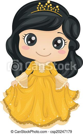 principessa, costume - csp20247179