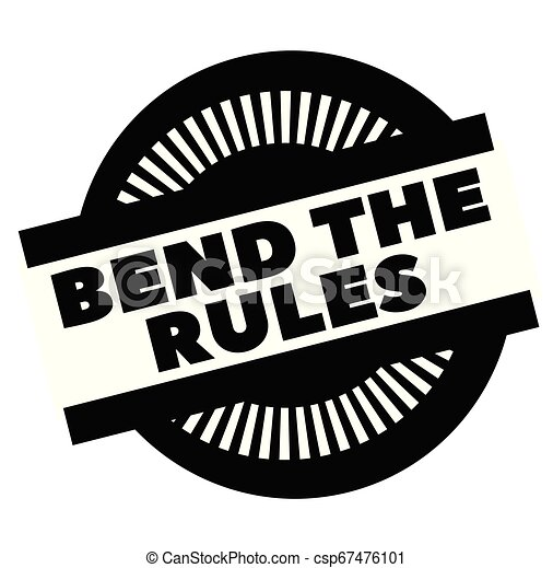 Print bend the rules stamp on white - csp67476101