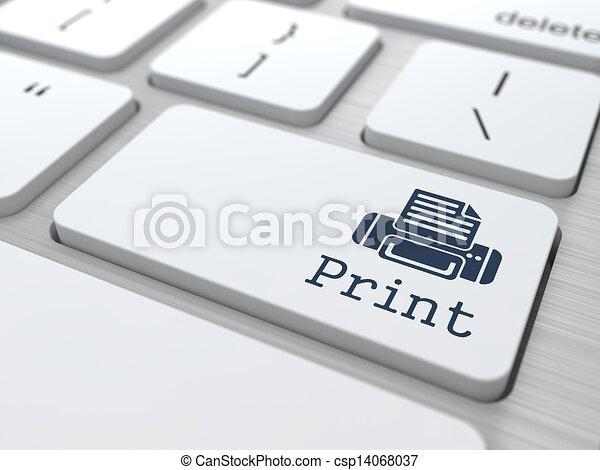 """""""print"""", button. - csp14068037"""