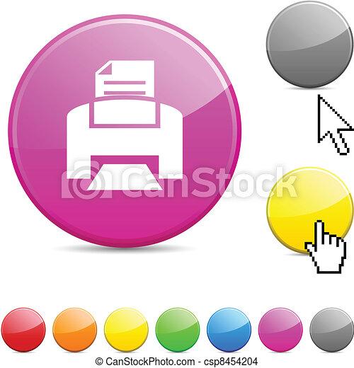 Print glossy button. - csp8454204