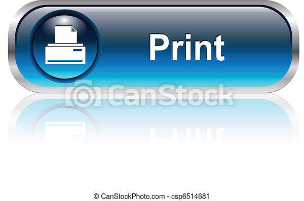 Print icon, button - csp6514681