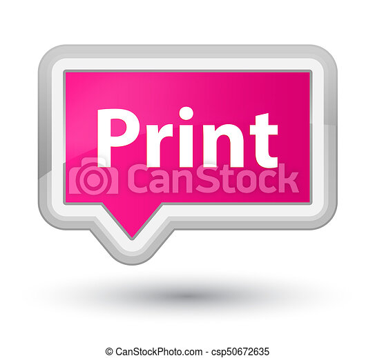 Print prime pink banner button - csp50672635